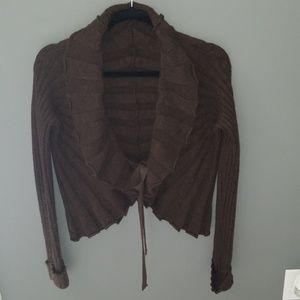 Valentino cardigan brown with tie front closure